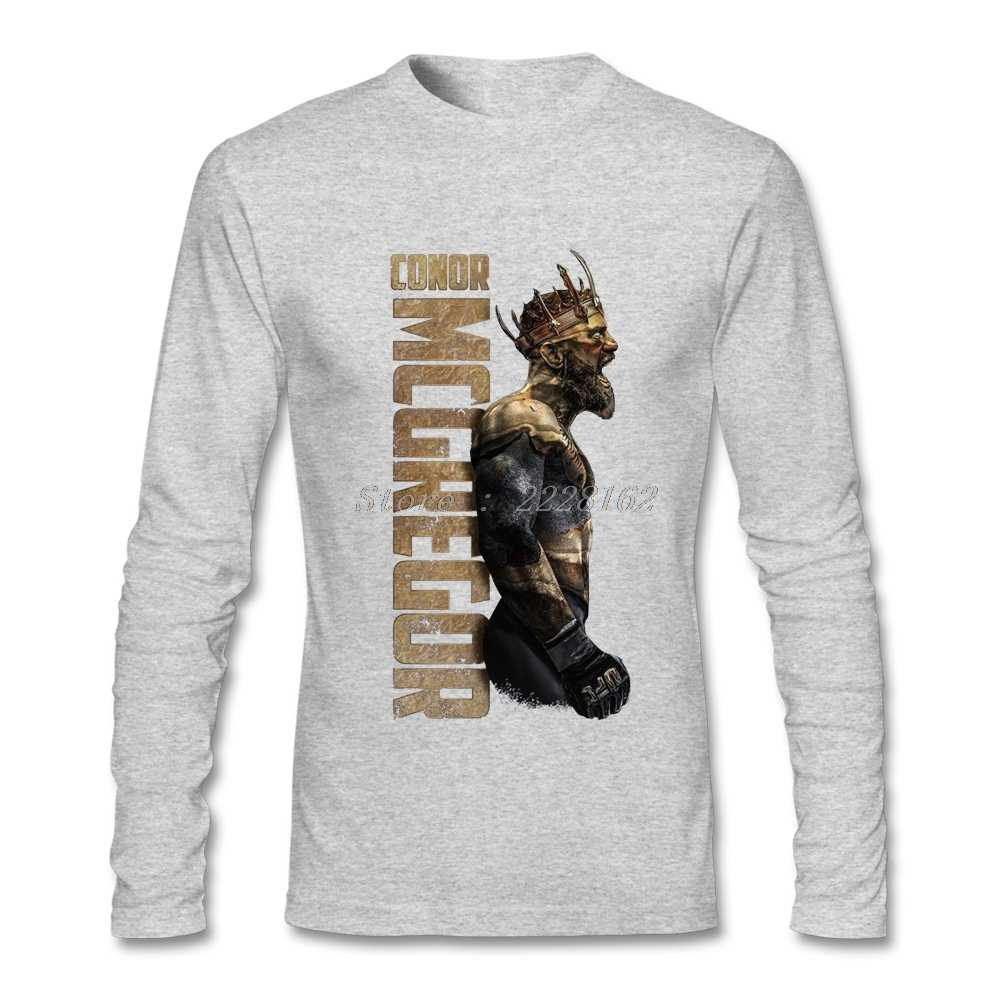 HU & GH футболка для мужчин онлайн Конор Макгрегор рубашки с хипстером мужские модные горячие с длинным рукавом рубашки одежда Bouyfriend