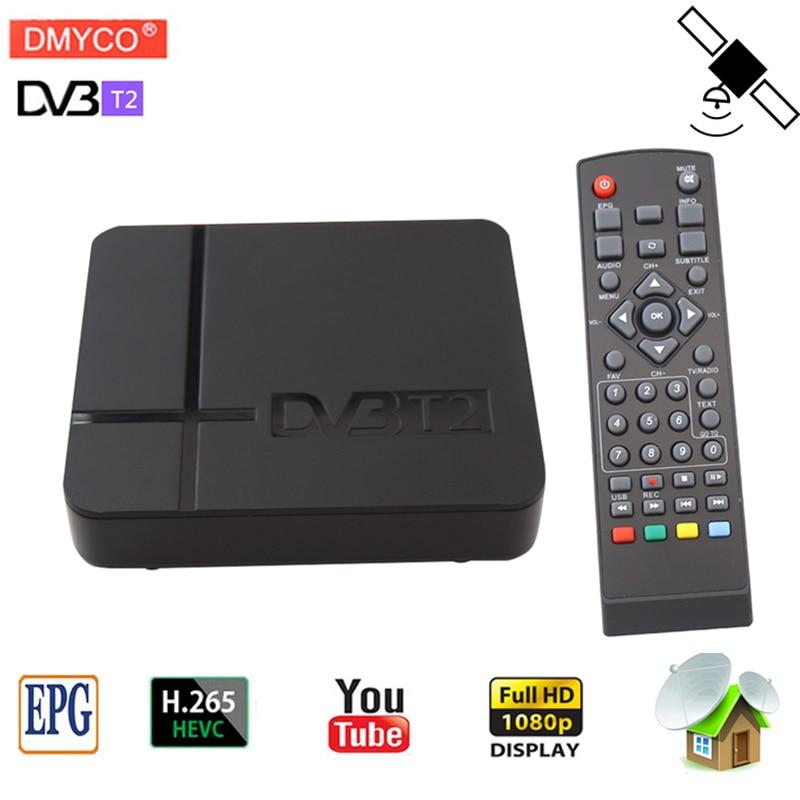 Vendita calda dvb-t2 ricevitore Satellitare HD 1080 p TV Digitale Tuner MPEG-2/4 Ricevitore TV NTSCW/RCA/ HDMI PAL/NTSC Auto scatola Di Conversione