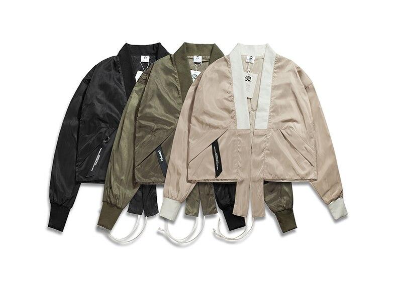 € 31 5 |2017 2018 automne hiver brand new hip hop hommes unisexe japonais  kimono ouvrir point style court veste 3 couleur dans Vestes de Mode Homme