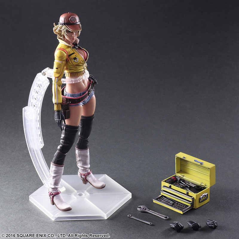 """JOGUE ARTS Kai Final Fantasy XV QUENTE Sexy Girl Cindy Aurum 27 CENTÍMETROS Action Figure PVC 10.63 """"Anime jogo PRESENTE TOY Boneca Coleção Modelo"""