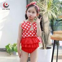 Girls Swimsuits With Headband For Baby Kids Summer Bikini Swimwear Children Beach Wear Briefs Swimming Suits