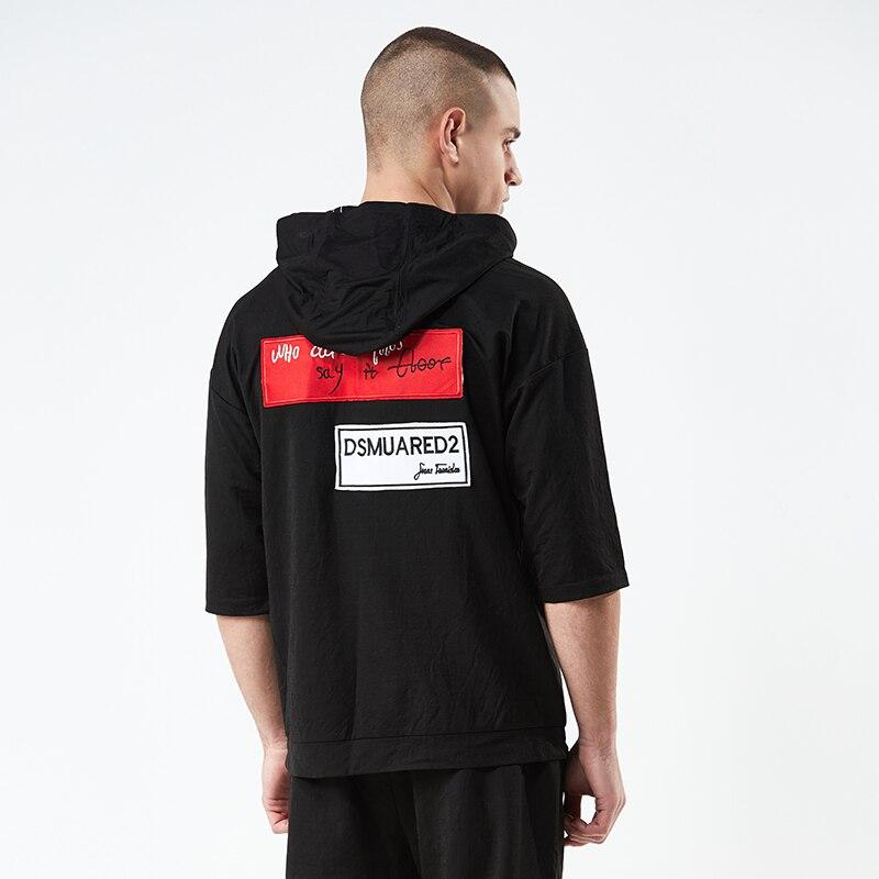 Cotton Mens Tracksuit Shorts Two Piece Sets Letter Printing Mens Sweat Suits Loose Men Clothes 2018 Hoodie Sweatshirt+Short