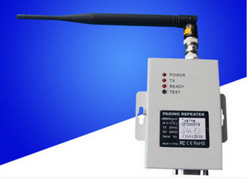 Pocsag repeater/transmitter, Pocsag paging system signal booster, RS232 protocol, 402-470MHz