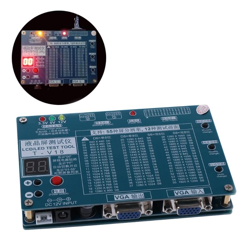 Ordinateur portable TV/LCD/LED Outil de Test Testeur de Panneau de Soutien 7-84 Pouce LVDS 6 Écran Ligne
