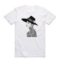 2017 Men Women Print Audrey Hepburn Fashion White T Shirt Summer Casual O Neck Short Sleeves
