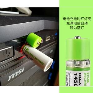 Image 4 - 1Pcs AA סוללה Nimh AA 1.2V 1450MAH סוללה נטענת NI MH USB AA 1450MAH