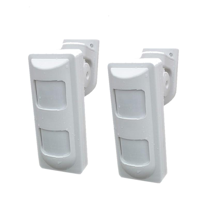 2pcs Wireless Dual PIR Sensor Pet Immune Motion Detector 433Mhz Alarm Sensors For Wireless GSM/PSTN Home Security Alarm System2pcs Wireless Dual PIR Sensor Pet Immune Motion Detector 433Mhz Alarm Sensors For Wireless GSM/PSTN Home Security Alarm System