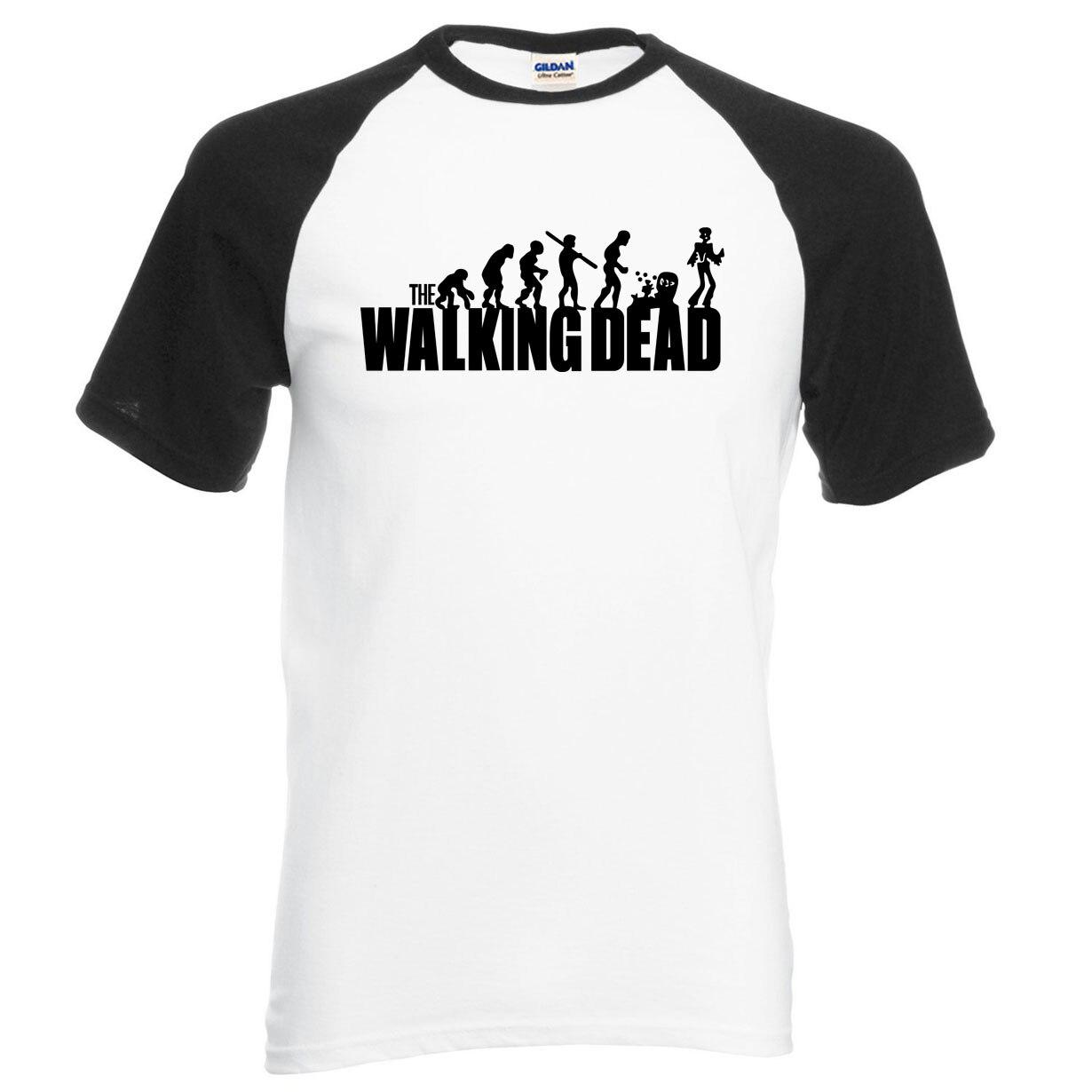 hip hop streetwear The Walking Dead men t shirt 2019 new summer hot sale 100% cotton high quality raglan t-shirt hipster men