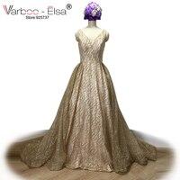 VARBOO_ELSA Goldsequin Glitter Abendkleid 2017 Benutzerdefinierte Hohe Qualität Party Kleid vestido de festa Prom Kleid Frauen Formalen Kleid