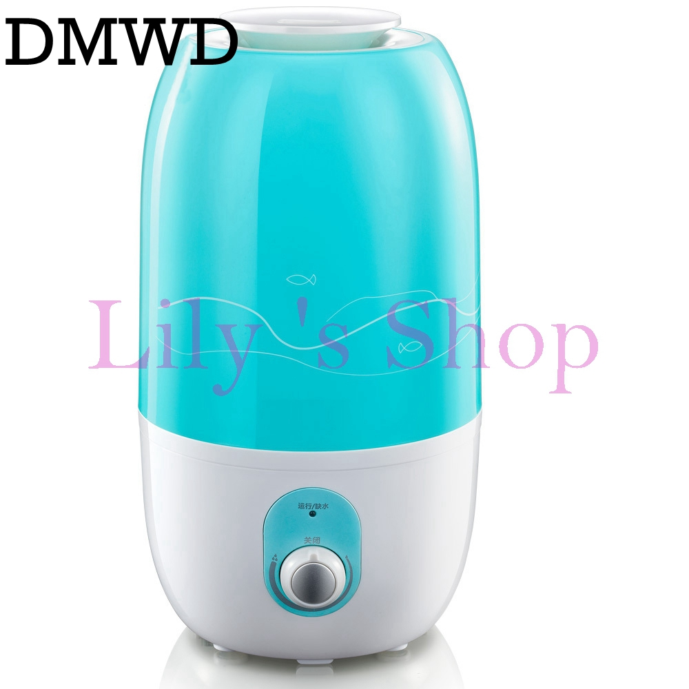 DMWD Electric Mini Ultrasonic humidifier mute essential oil Diffuser air Purifier Aroma Mist Maker home office Fogger bedroom 3L