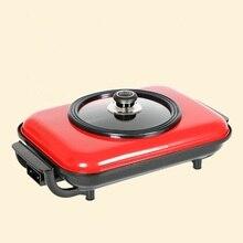Barbecue grill fish pot electric machine