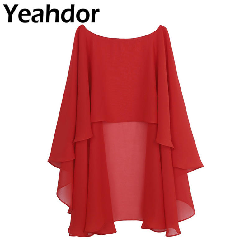 Wedding-Cover-Up Shawl Wraps Shrug Chiffon Bridal Evening Long Womens Ladies High And