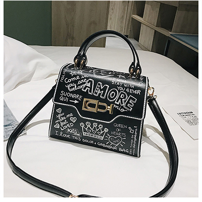 Graffiti Women Handbags PU...