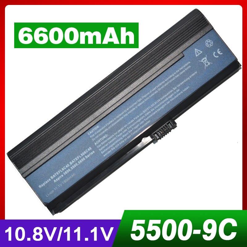 6600 мАч аккумулятор для Acer Aspire 3030 3054 3200 3600 3602 3603 3608 3682 3683 3684 5030 5051 5052 5053 5500 5501 <font><b>5502</b></font> 5503 5504