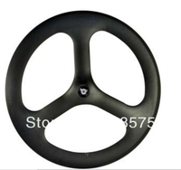 3 Spoke Wheel Full Carbon Fiber With Novatec Hub Clincher Type 700C 20 5mm Width