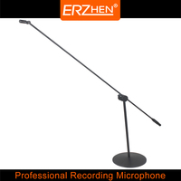 DR 20 High Quality Professional Condenser Sound Recording Microphone with Shock Mount for Radio Braodcasting Singing Black