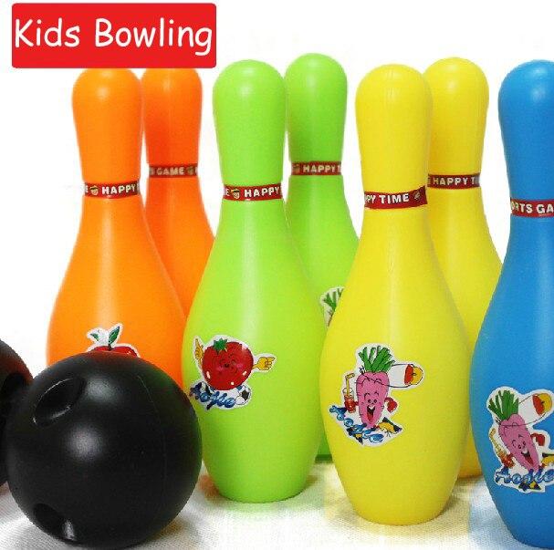 d503b3d251 (8 botol dan 2 bola) anak anak anak keselamatan Bowling gutterball TECMO  BOWL bola mainan olahraga dalam ruangan bermain