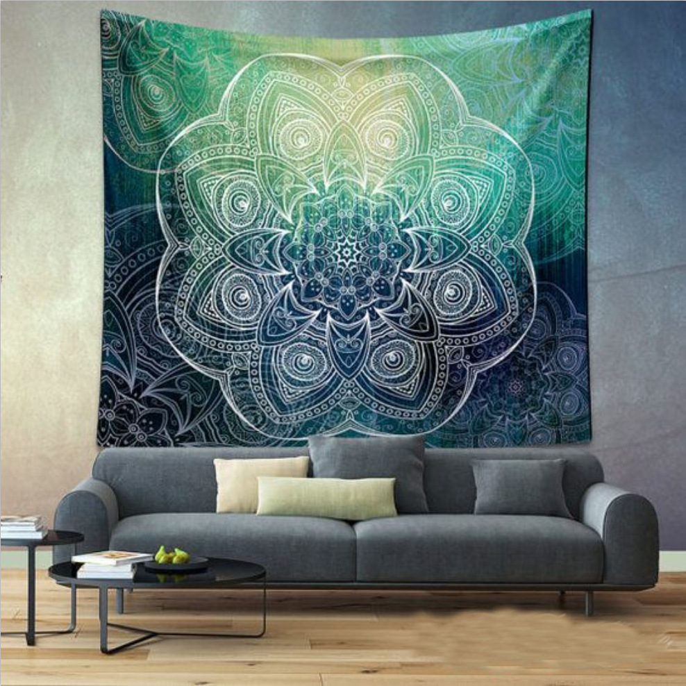 Attractive Indian Bohemian Mandala Tapestry Wall Hanging Sandy Beach Picnic Throw Rug  Blanket Camping Tent Travel Mattress