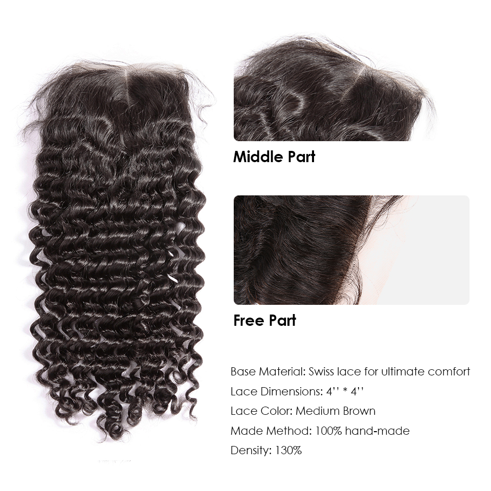 Image 5 - 36 40 Inch Curly Bundles With Closure Deep Wave Brazilian Hair Weave Bundles With Closure Double Drawn Remy Human Hairbundles with closurebundles with lace closurebundle hair -