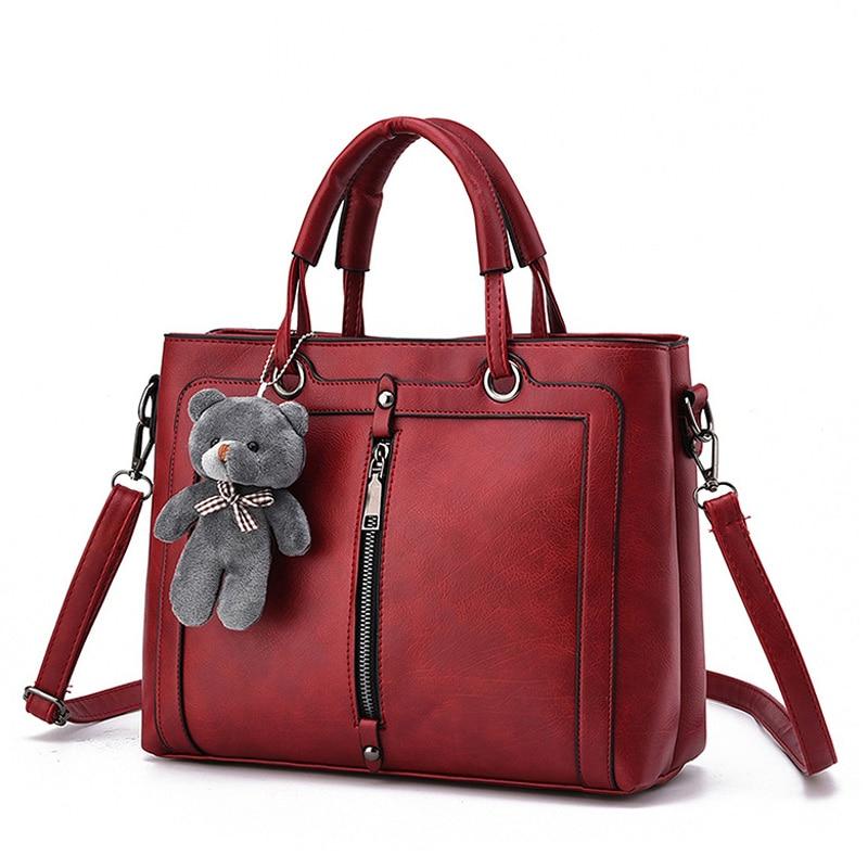 все цены на Luxury Women Leather Handbag Red Retro Vintage Bag Designer Handbags High Quality Famous Brand Tote Shoulder Ladies Hand Bag