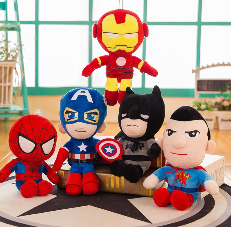 Marvel Avengers Plush Toys Doll Spider-man Spider Man Far From Home Captain Black Panther Iron Man Super Man Soft Plush Doll Toy