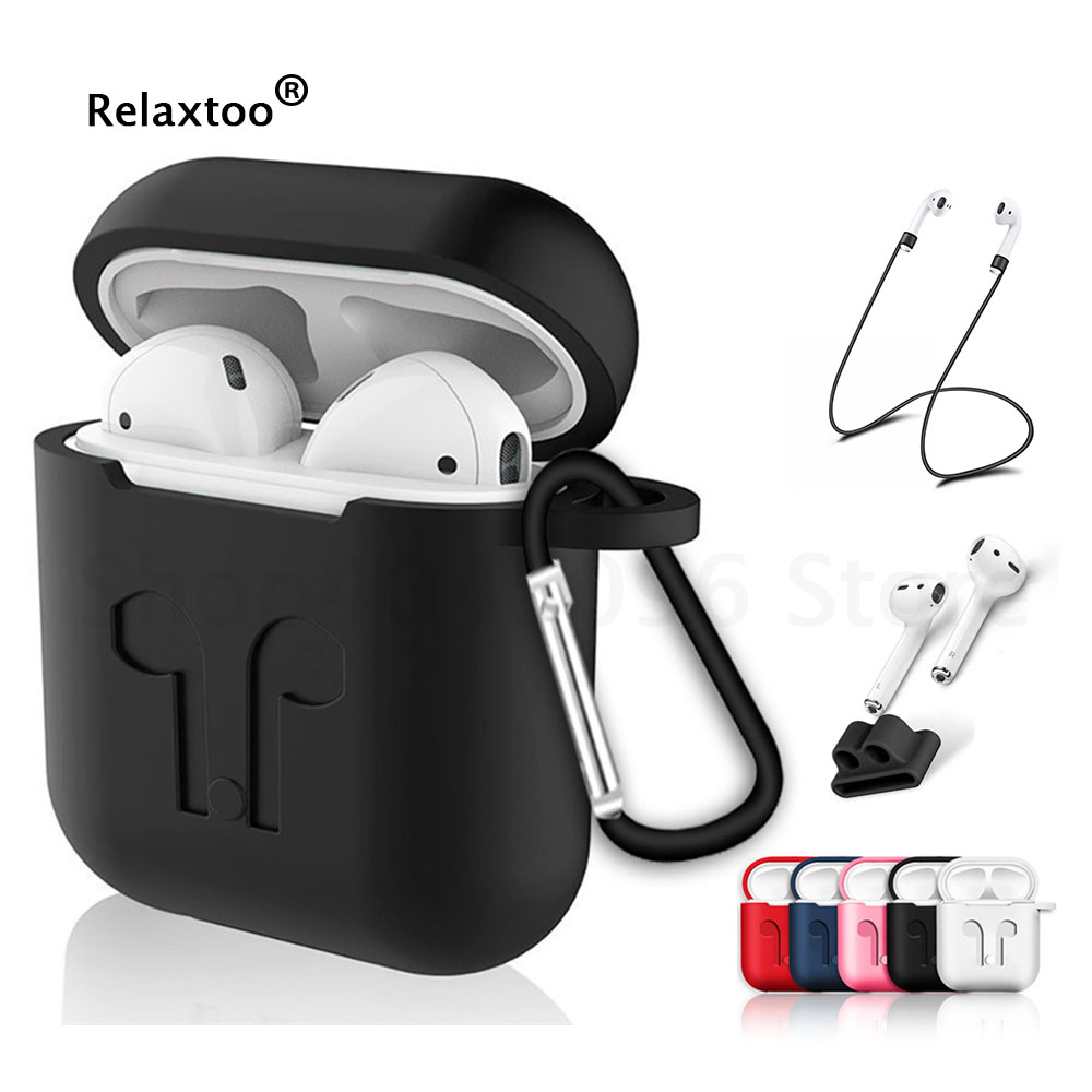 Soft Silicone Case For Apple Airpods Air Pods Earphone Protective Cover Shockproof Waterproof for iphone 7 8 Headset Accessories