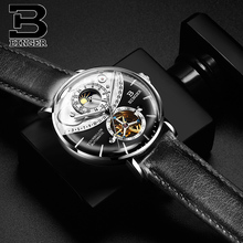 купить BINGER Top Mens Watches Top Brand Luxury Automatic Mechanical Watch Men Full Steel Business Waterproof Fashion Sport Watches по цене 5826.64 рублей