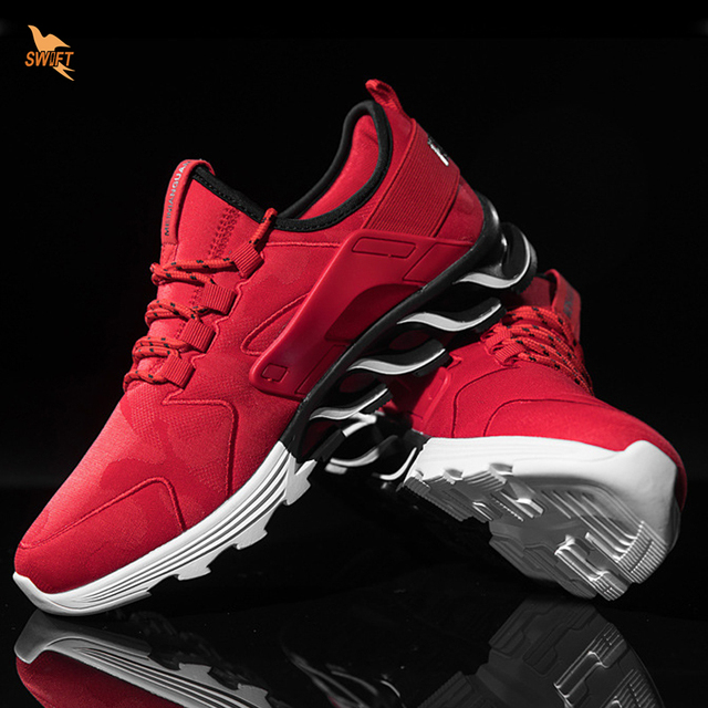 2018 Newest Mens Running Jogging Shoes Mesh Fabric Rubber Sole Sports Shoes Summer Breathable Sneakers Man Outdoor Walking Boots