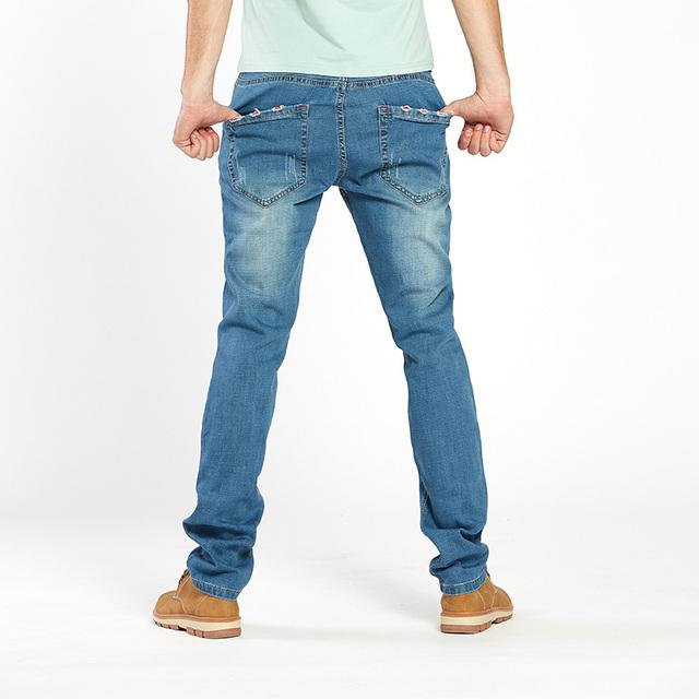Drizzte Mens Jean Plus Size 28-48 Blue Black Denim Stretch Jeans Pants Distressed Pockets Jeans Big Large Sizes Trousers