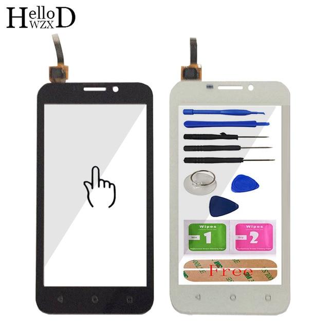 חדש עבור Huawei Y541 Y5 Y5c Y541-U02 מול מסך מגע Digitizer חיצוני זכוכית עדשה חיישן לוח מגע חלק להגמיש כבל דבק