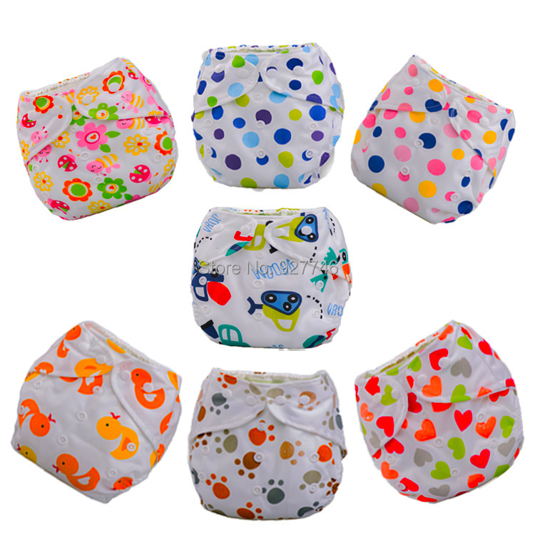 купить Baby Diapers Cloth Diaper Reusable Nappies Training Pants Diaper Cover Washable Free Size QD24 по цене 40.12 рублей