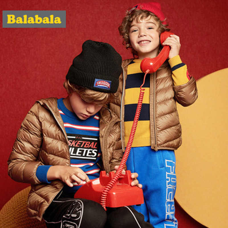 Balabala Winter Jacket girls boys Duck Down children fashion clothing jacket thick clothes for kids for 20 degrees below zero