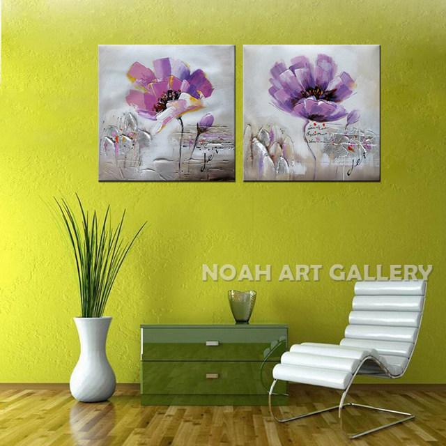 Online Shop Handmade Modern Flower Modular Pictures Wall Painting ...