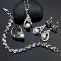 925-Silver-Bridal-Jewelry-Sets-Multicolor-CZ-Flower-White-Pearl-Beads-For-Women-Wedding-Earrings-Pendant.jpg_200x200