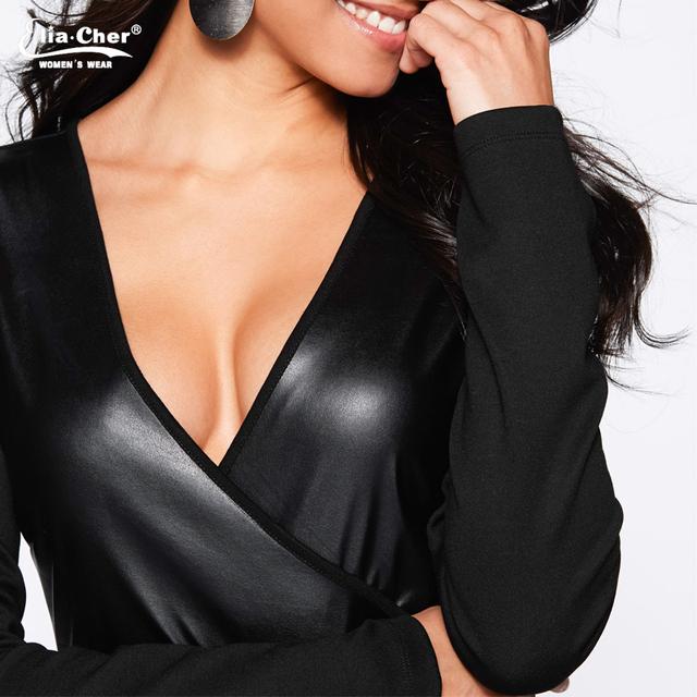 Fashion Patchwork Style Long Sleeve V-neck