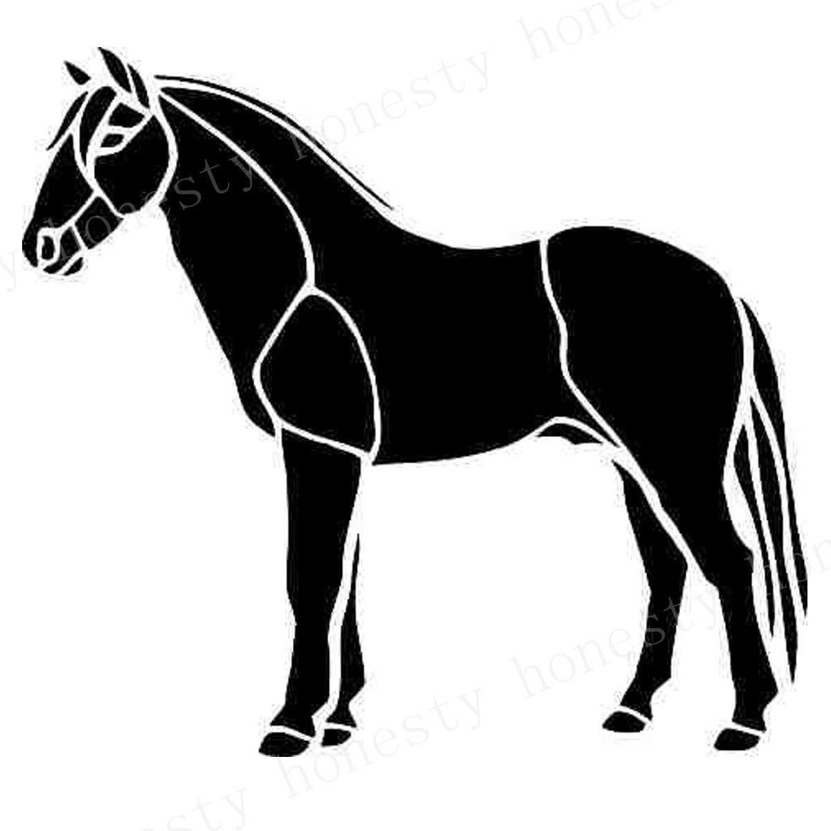 Horse Standing Car Wall Home Glass Window Door Car Sticker Laptop Truck Auto Home Black Animal Vinyl Decal Sticker Decor Gift