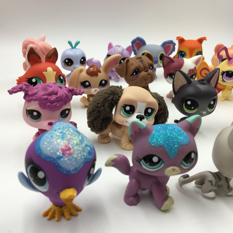Image 5 - 20Pcs/bag Little Animal Pet Model Toys Pet Shop Mini Cat Dog Old Lps Toys Action Figures Kids toys-in Action & Toy Figures from Toys & Hobbies