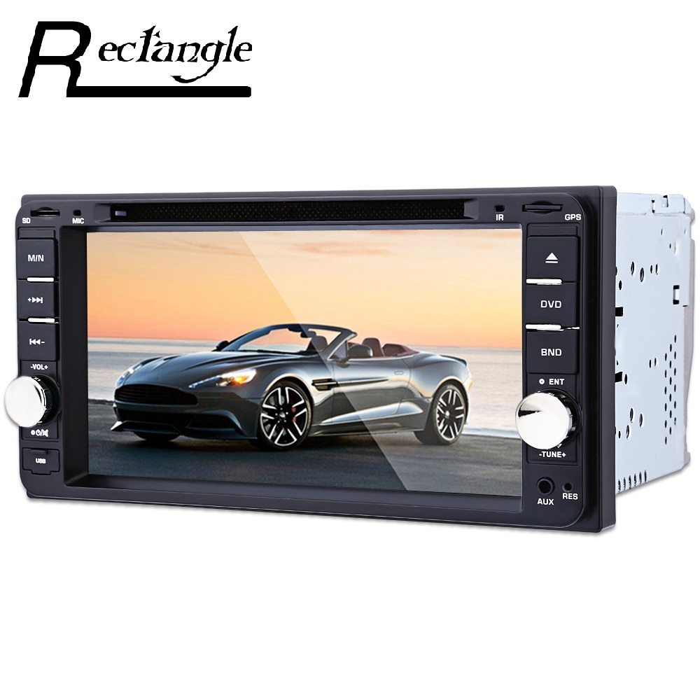 Rectangle 7 inch Car DVD CD Player Remote Control Intelligent rear view Reversing Camera GPS Navigation Function Bluetooth radio home car cd player 4 channel audio amplifier with remote control and bluetooth function good sound quality