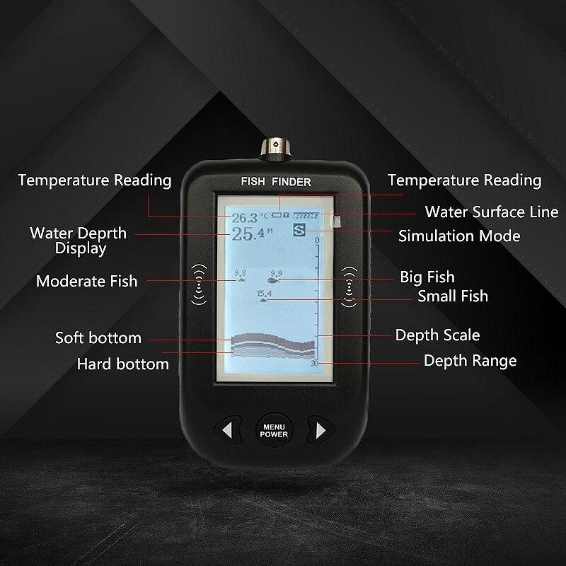 Peixes de Água Fishfinder Peixe Detectar Profissional Bluetooth