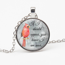 Hot Cardinal Parrot Necklace Round Glass Dome Rounded Christmas Gift Religion Give Him Her Charm Woman