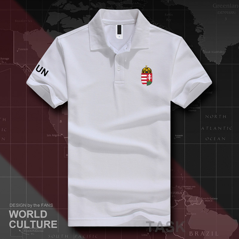 14c7891cf1e6 Dropwow Hungary HUN polo shirts men short sleeve white brands ...