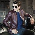 Braand Men Soft PU Leather Jacket Men Business Casual Coats Male Jaqueta Masculinas Inverno Couro Motorcycle Bomber Jacket Male