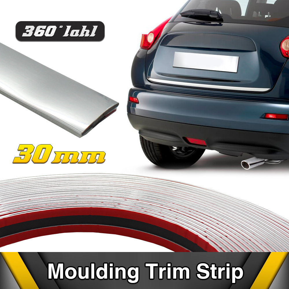 Decoration Molding Trim Strip Auto Car Chrome Window Handle Door 30mm DIY Silver Color Self Adhesive ...