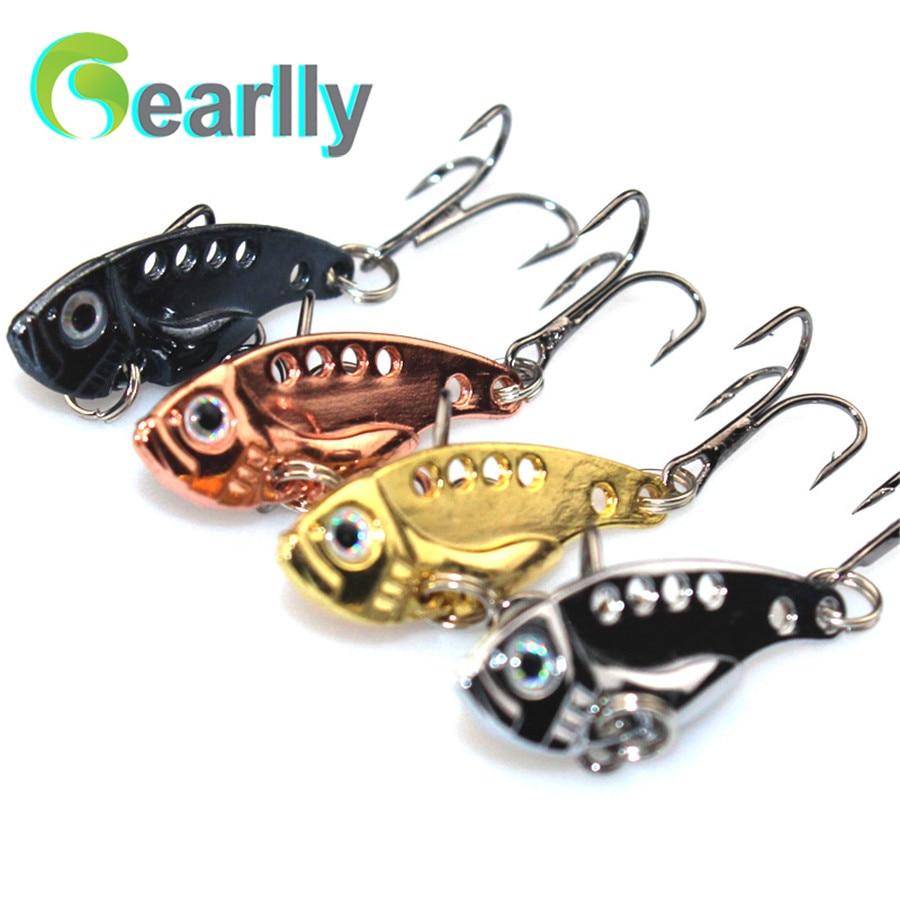 4 PCS / sada Gearlly VI001 super kvalitní 35mm 3,2 g nůž VIB všechny vodní řady Rybářské návnady Hard Lures Fish Bait Spoon