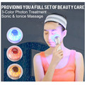 Sonic&Ionic Massage Mini Vibration SPA Massager Anti-wrinkle Anti-acne LED Photon Treatment Beauty Equipment Face Care Tool