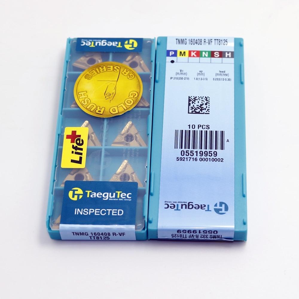 10Pcs Gaobey TNMG160404L-VF TT8125 Carbide Inserts New