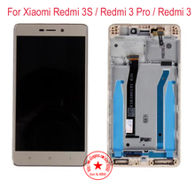 100% Tested Work Redmi 3s LCD Display Touch Screen Digitizer Assembly For Xiaomi Hongmi 3 Redmi 3 Pro Redme 3 Mobile Replacement