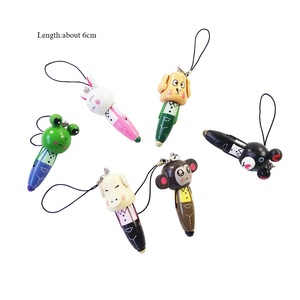 30 Pcs/lot Mini Cute Cartoon Animal Wooden Pendant Ball Point Pen For Kids Birthday Party Favors School little Gifts supply(China)