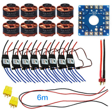 F04997-G Assembled Kit 40A ESC Controller 320KV Motor Connection Board Wire for 8-axle Drone Multi Rotor Hexacopter