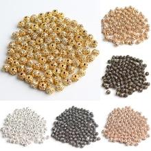 Wholesale 100pcs 6mm Metal Plated Crystal Rhinestone Ball Sp